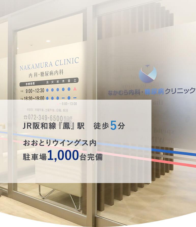 JR阪和線『鳳』駅 徒歩5分おおとりウイングス内駐車場1,000台完備